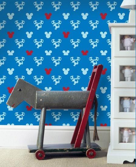 Papel pared mickey mouse - Vinilos infantiles disney para paredes ...