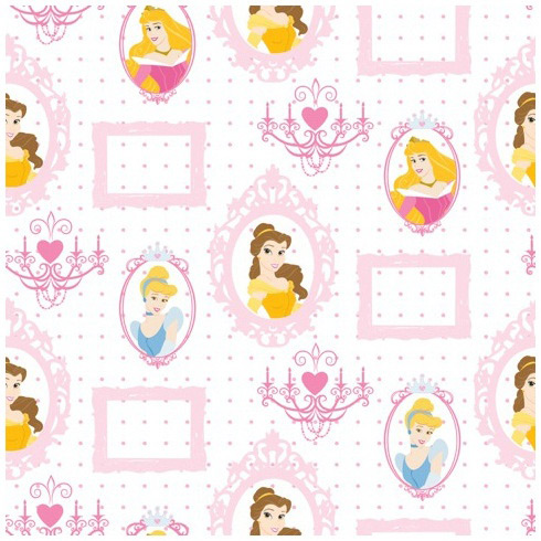 Papel pintado princesas for Papel decorativo infantil