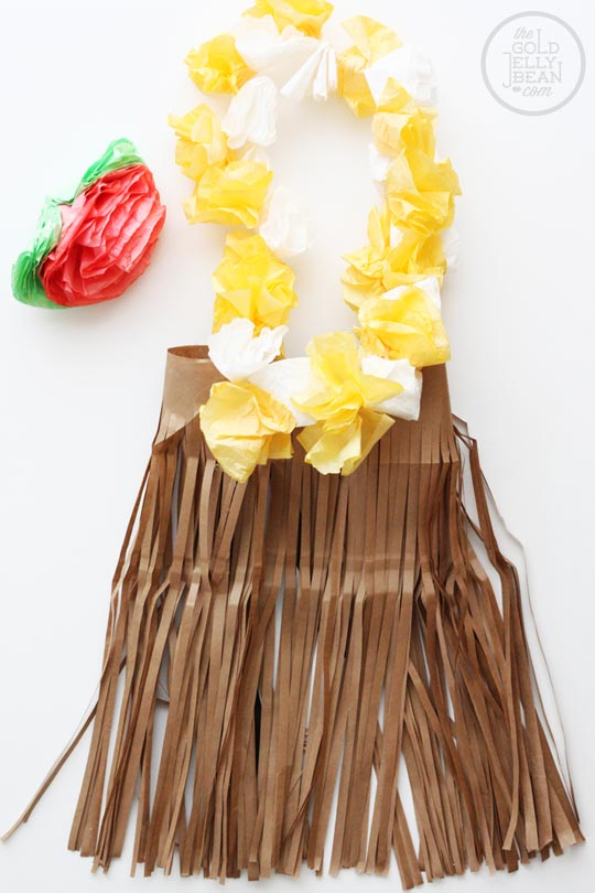 Hula Girl Halloween Costume DIY