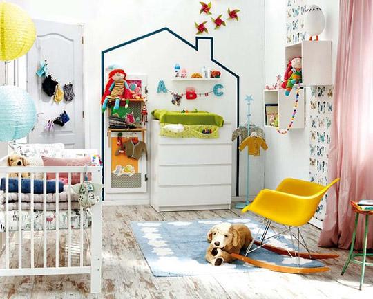 Ideas con washi tape para el cuarto del bebé