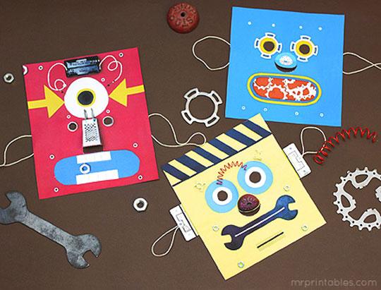 Máscara robot para niños
