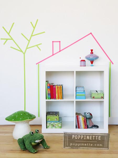 Habitaciones infantiles y habitaciones de bebés decoradas con washi tape