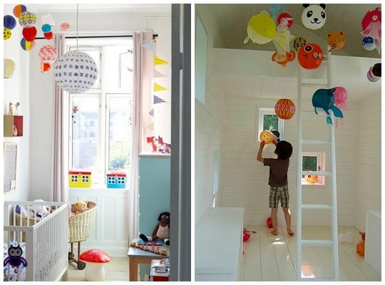 Decorar con globos de papel japoneses - Decorar tu casa con poco dinero ...
