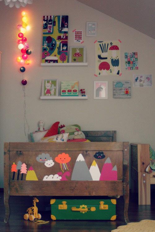 Guirnaldas de luces decoraci n infantil - Habitaciones con luces ...