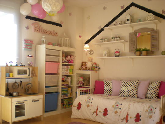Proyecto habitaci n para ni a de chic attique - Decorar habitacion nina 8 anos ...