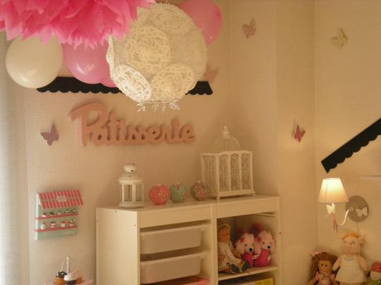 Proyecto habitaci n para ni a de chic attique - Lamparas para habitaciones infantiles ...