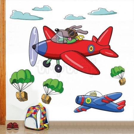 Vinilo infantil Aviones