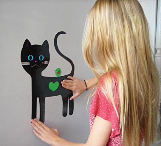 vinilo-gato-negro