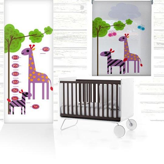 murales infantiles y estores coordinados