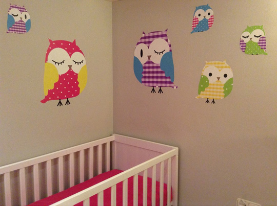 Habitaci n de beb decorada con buhos - Manualidades para decorar habitacion bebe ...