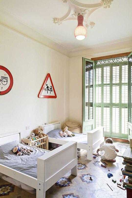 Idea original para decorar la habitación infantil
