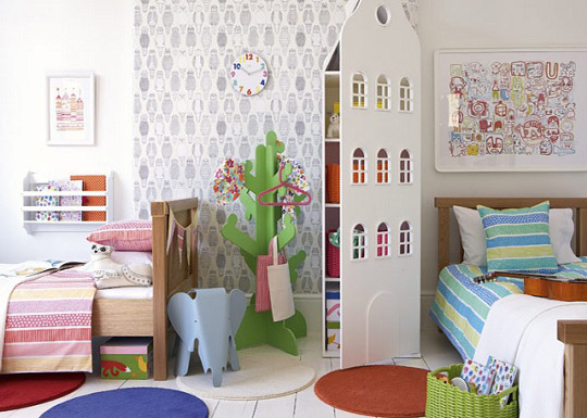 Dormitorio infantil para ni o y ni a for Ideas para decorar habitacion compartida nino nina