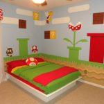 Super Mario Bros en el dormitorio infantil