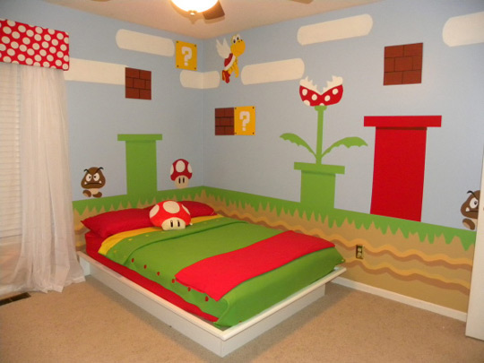 Super mario bros en el dormitorio infantil decoideas net for Chambre bebe denver
