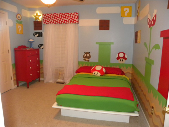 Super Mario Bros En El Dormitorio Infantil DecoideasNet