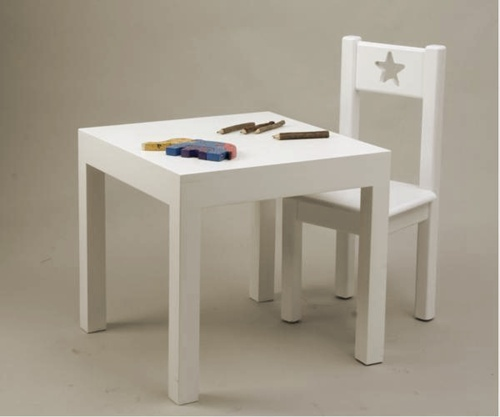 Muebles y art culos de madera para decorar for Mesa y silla infantil