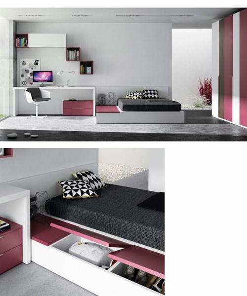 Aprovecha el espacio en el dormitorio juvenil decoideas net for Dormitorios funcionales