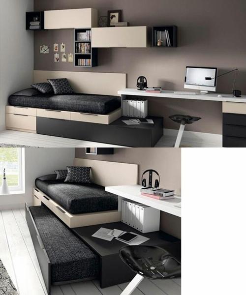 Habitaciones juveniles con poco espacio ideas de disenos for Habitaciones juveniles para poco espacio