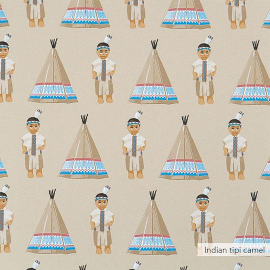Papel pintado Tipi Indio