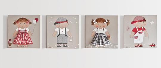 Cuadros infantiles artesanales - Cuadros para habitaciones infantiles ...