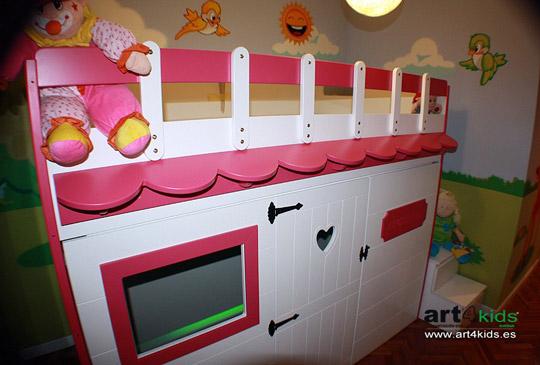 Cama infantil con forma de casita decoideas net - Cama casita infantil ...