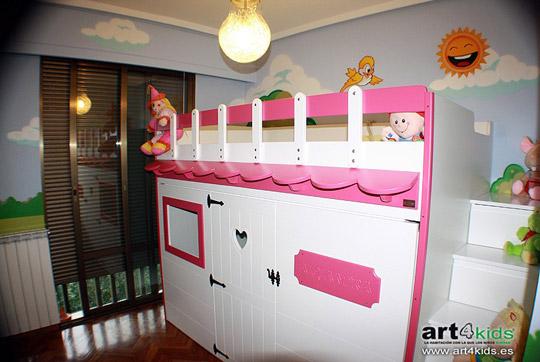 Cama infantil con forma de casita - Cama casita infantil ...