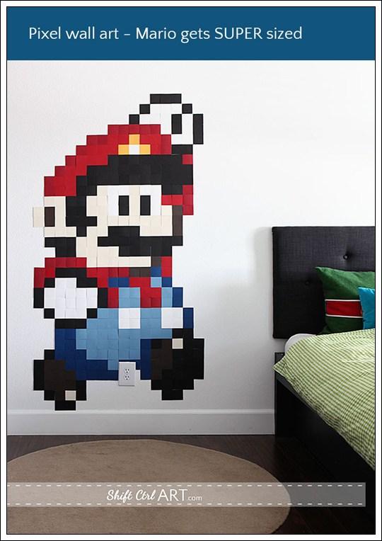 Mural DIY Super Mario Pixel
