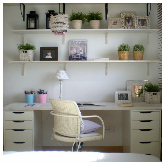 Organizar una zona de estudio peque a for Ideas para decorar un estudio