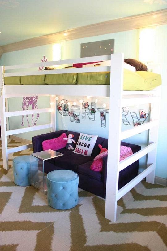 Juveniles con camas altas for Sofa cama para habitacion juvenil