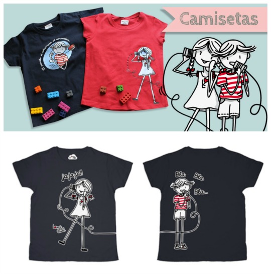 Camisetas infantiles con simpáticos diseños.