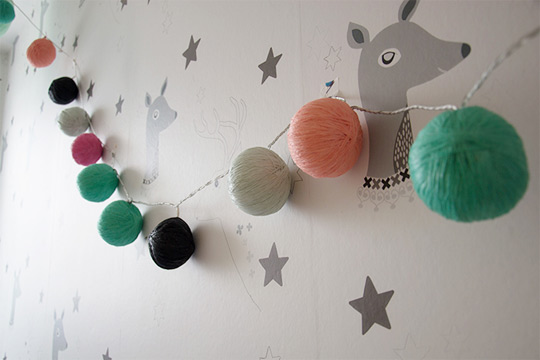 Diy guirnalda luminosa de bolas decoideas net - Ikea iluminacion ninos ...