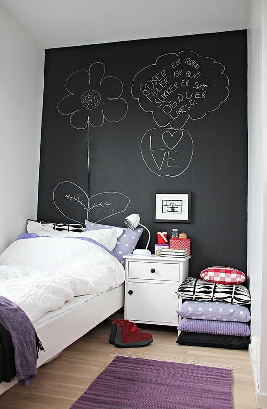 Un toque creativo con la pintura pizarra - Pinturas para habitaciones juveniles ...