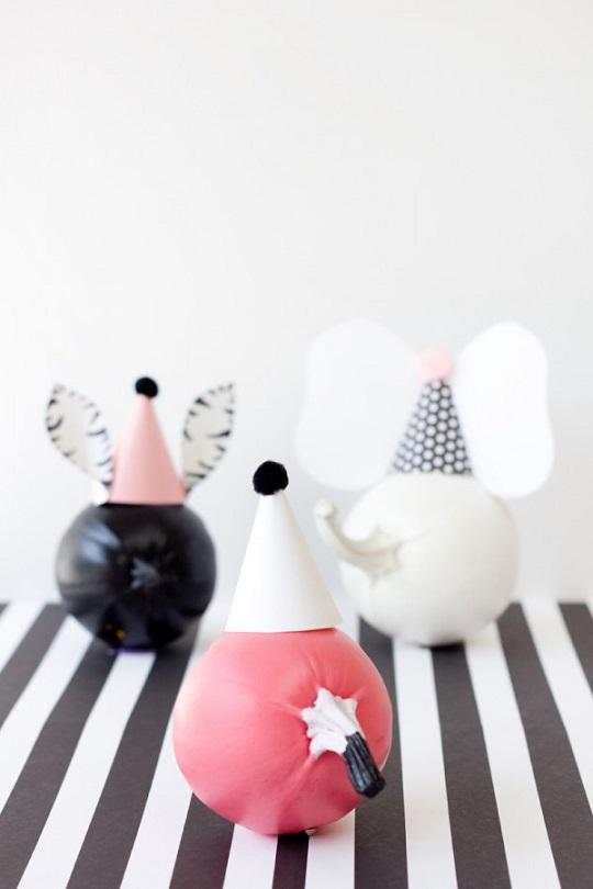 Decorar calabazas con diseños de animales