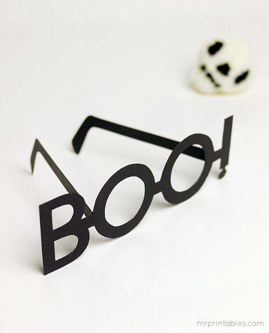 Construye unas gafas para Halloween