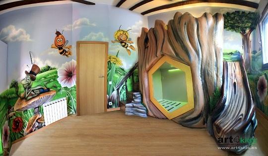 habitacion-infantil-abeja-maya