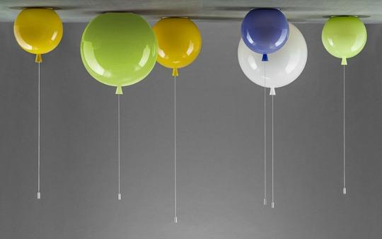 Simp tica l mpara de techo con forma de globo - Lamparas para habitaciones infantiles ...