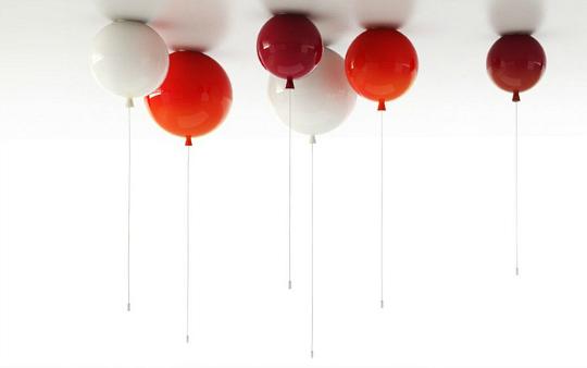 Simpu00e1tica lu00e1mpara de techo con forma de globo : Decoideas.Net