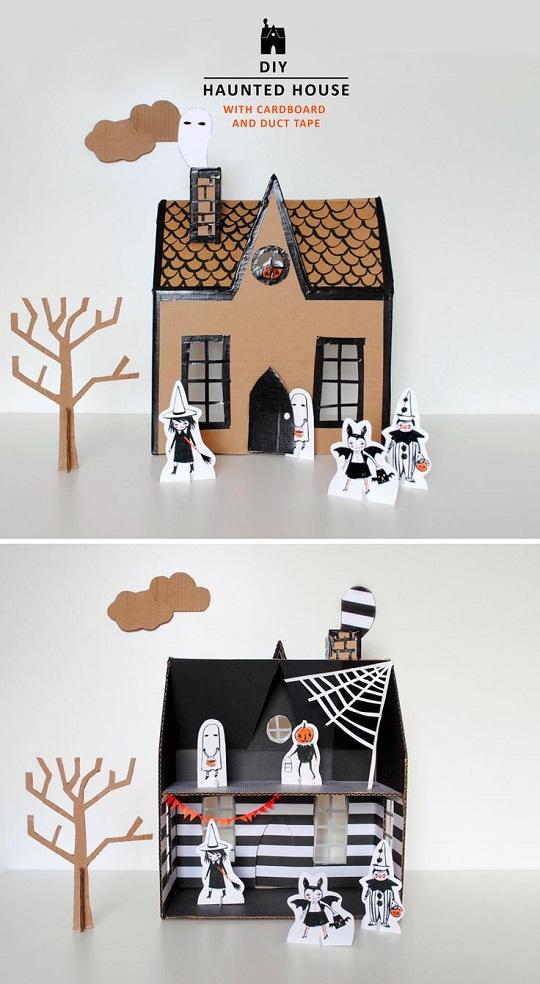 Casa embrujada de cartón