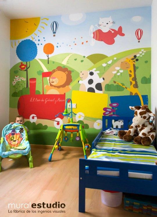 Murales pintados a mano alzada de muralestudio - Habitaciones infantiles ninos 4 anos ...