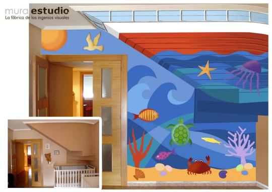 Murales pintados infantiles decoraci n infantil - Murales pintados a mano ...