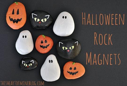 Manualidades de Halloween: pintar piedras