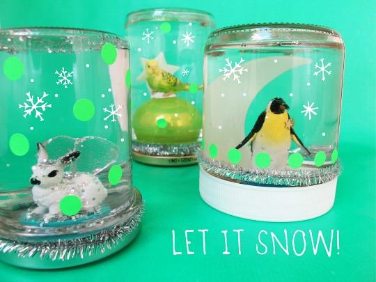 DIY: Bolas de nieve de cristal