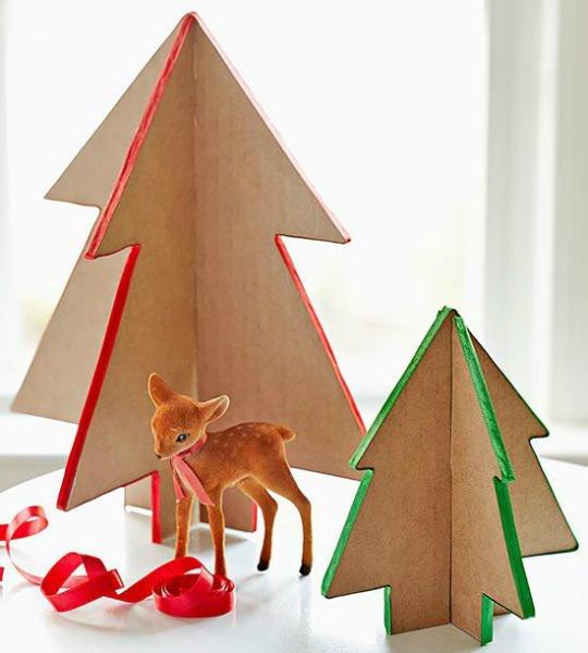 Manualidades navidad mini rboles de cart n - Arboles de navidad manualidades navidenas ...