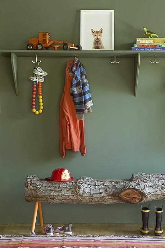 Ideas decorativas: sentarse en un tronco