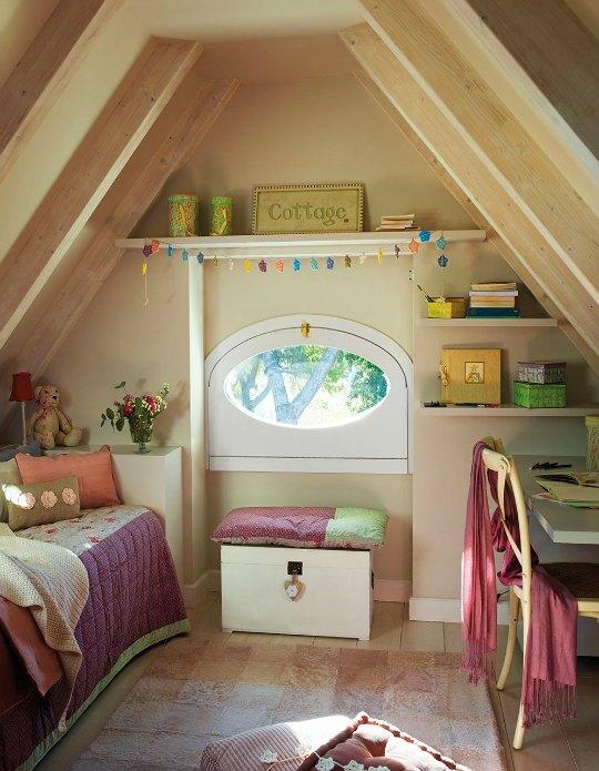 habitaciones infantiles abuhardilladas