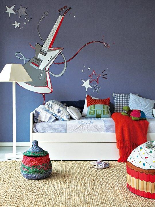 Decoraci n dormitorio juvenil musical decoideas net - Decorar paredes habitacion juvenil ...