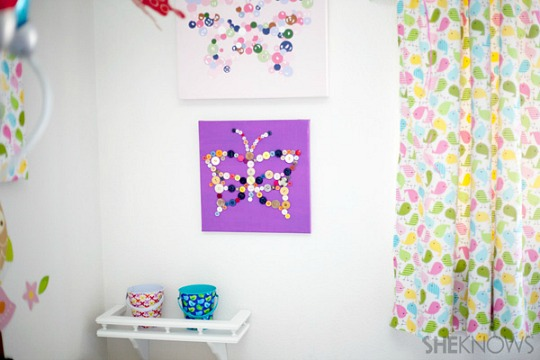 Ideas para cuadros infantiles con botones