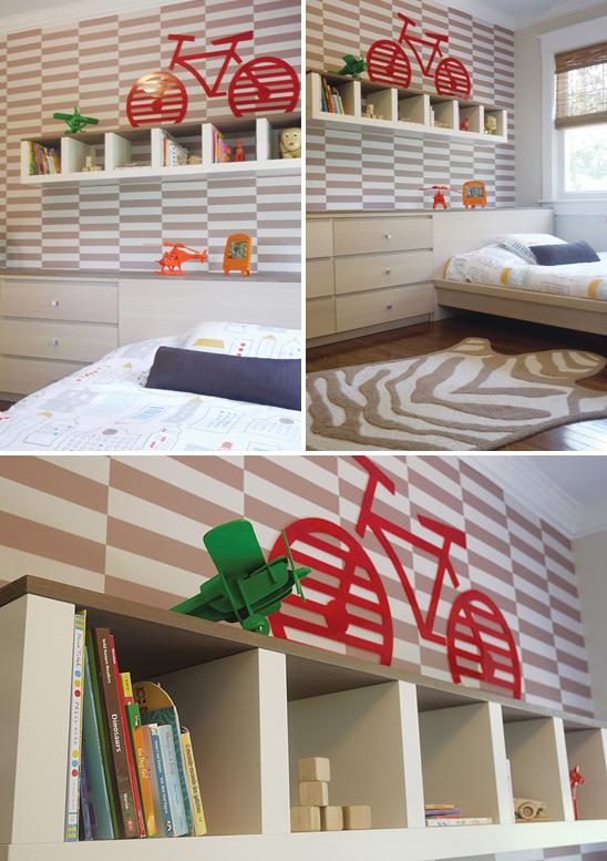 Un dormitorio infantil decorado en colores neutros - Papel pintado dormitorio principal ...