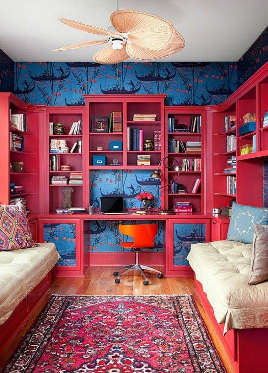 Inspiraci n ambientes juveniles decorados en fucsia for Decoracion para pared fucsia