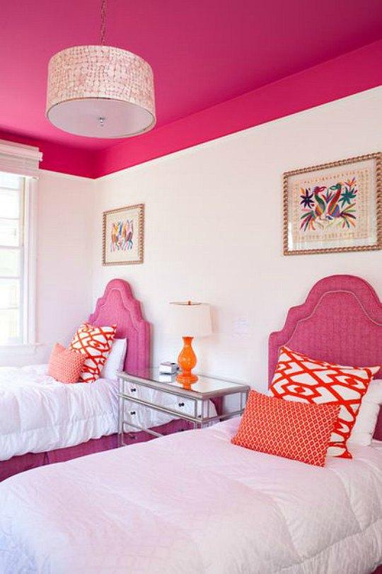 Inspiraci n ambientes juveniles decorados en fucsia for Vinilos para habitaciones juveniles